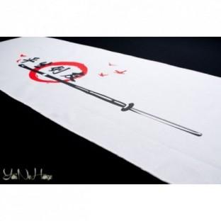 Tenugui Kendo | Tomodachi | Blanc