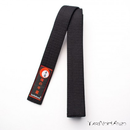 Ceinture pour karaté et judo NOIR DELUXE   Karaté judo obi